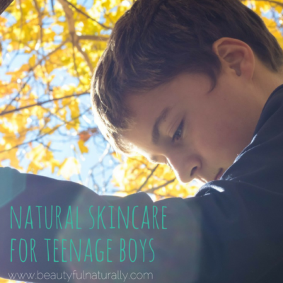 Beginning a skincare routine for teenage boys